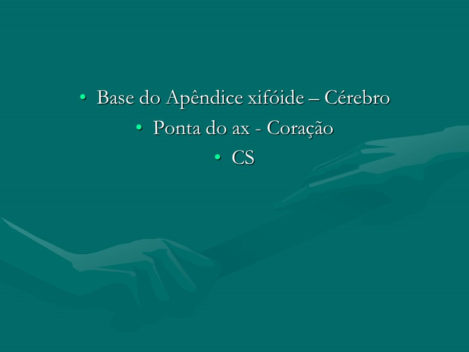 Base do Apêndice xifóide – Cérebro