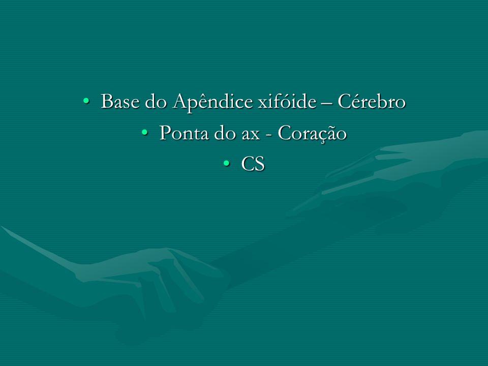 Base do Apêndice xifóide – Cérebro