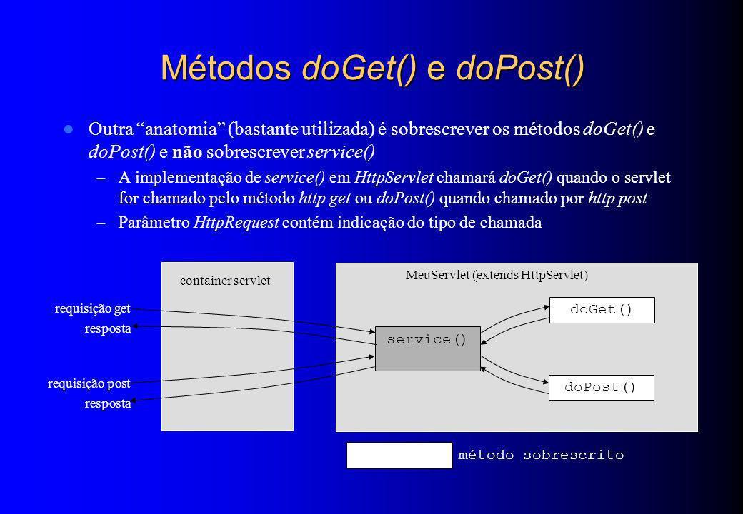 Métodos doGet() e doPost()