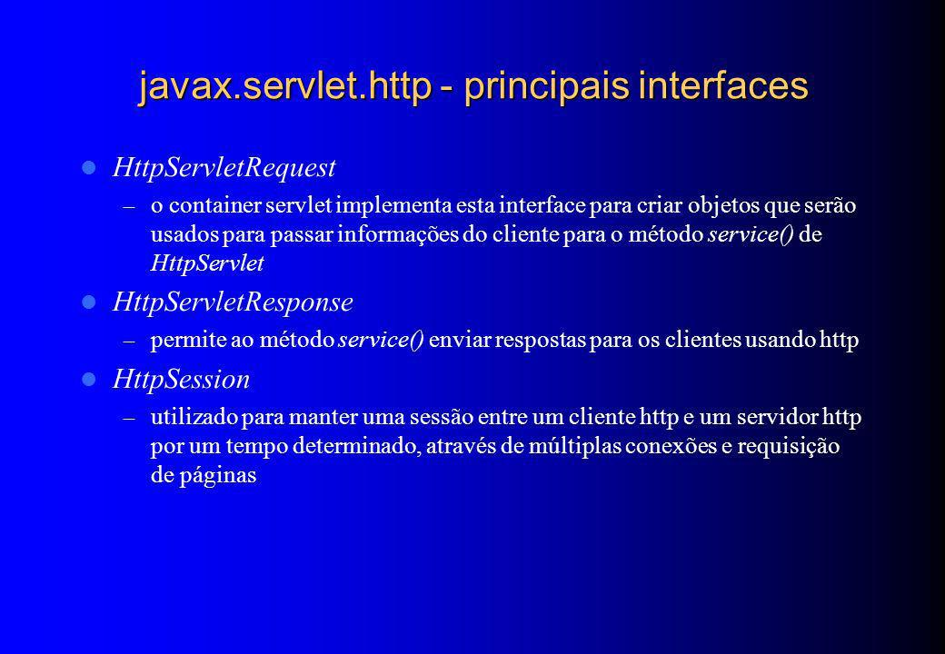 javax.servlet.http - principais interfaces