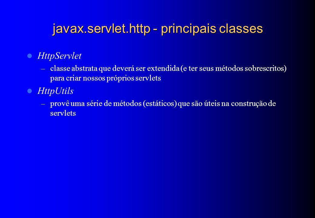 javax.servlet.http - principais classes
