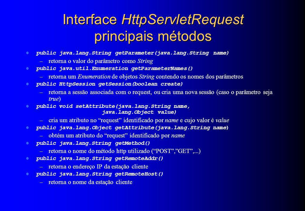 Interface HttpServletRequest principais métodos