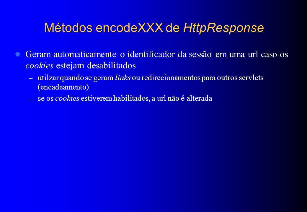 Métodos encodeXXX de HttpResponse