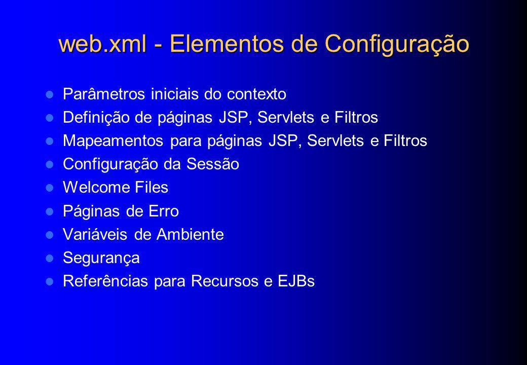 web.xml - Elementos de Configuração