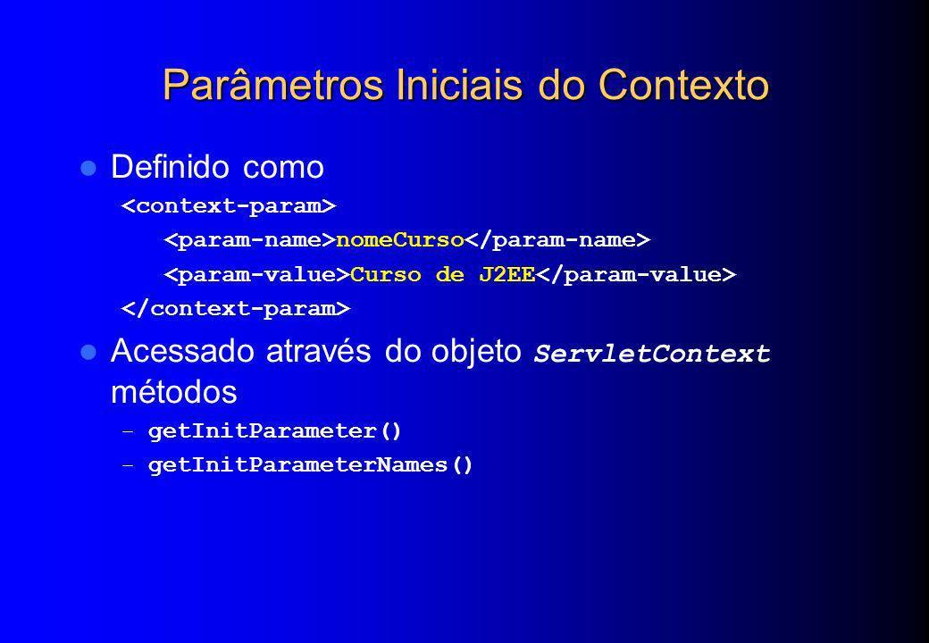 Parâmetros Iniciais do Contexto