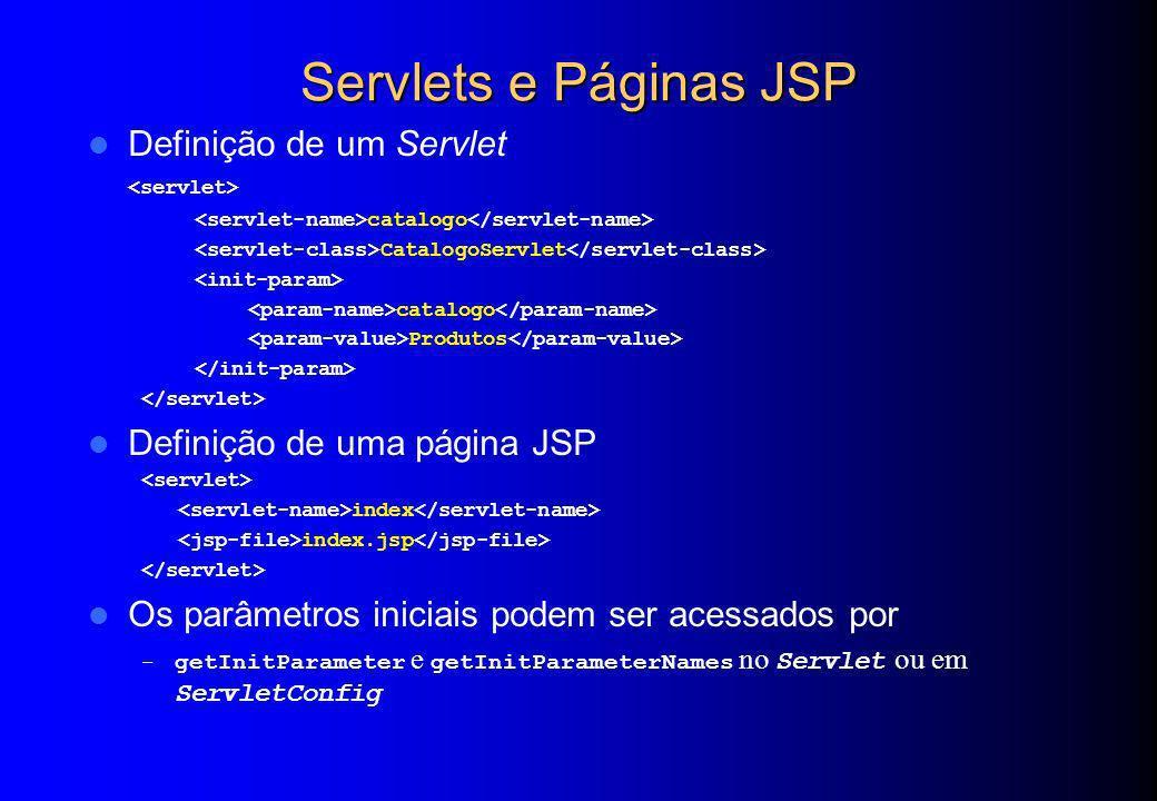 Servlets e Páginas JSP Definição de um Servlet