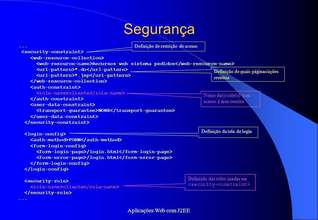 Segurança Aplicações Web com J2EE ... <security-constraint>