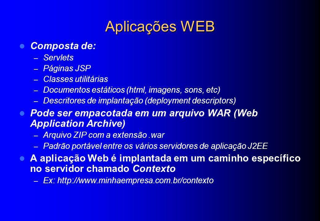 Aplicações WEB Composta de:
