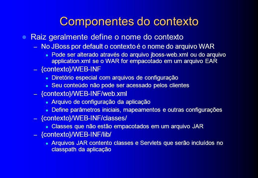 Componentes do contexto