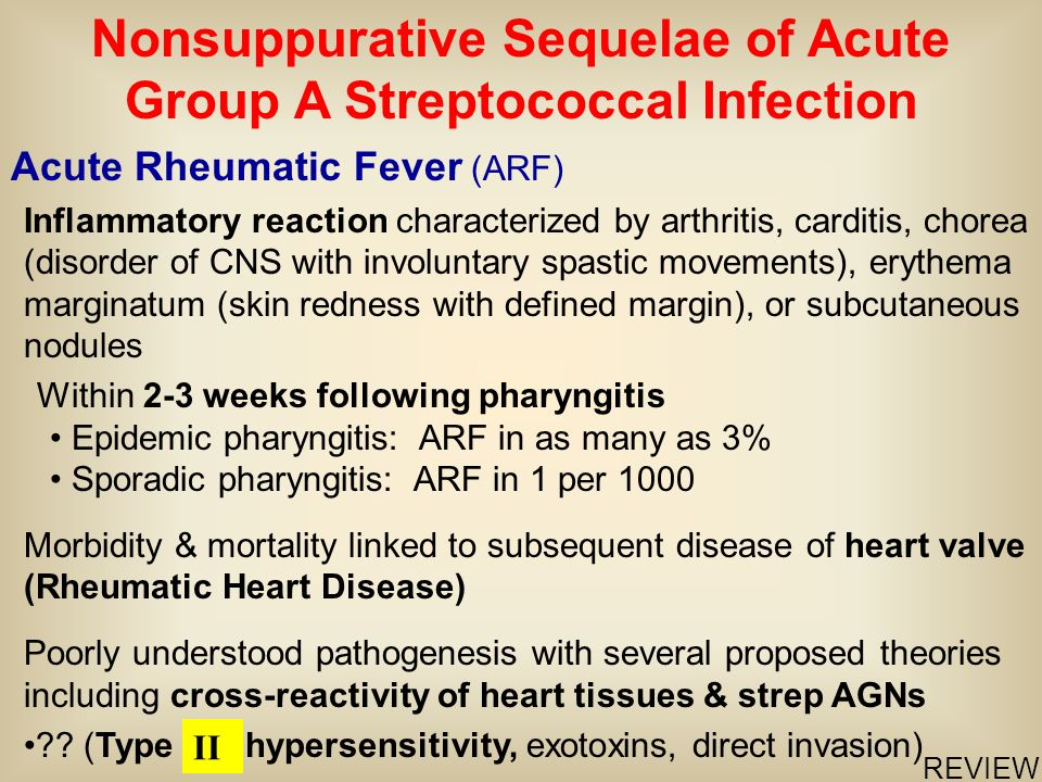 Nonsuppurative Sequelae of Acute Group A Streptococcal Infection
