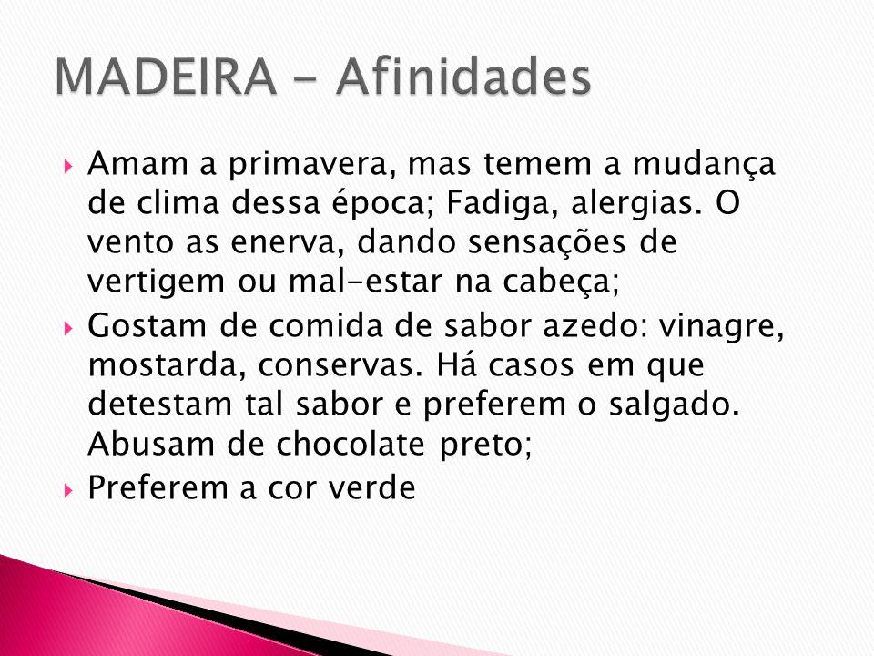 MADEIRA - Afinidades