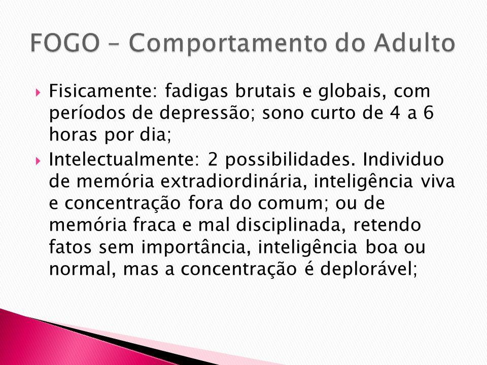 FOGO – Comportamento do Adulto