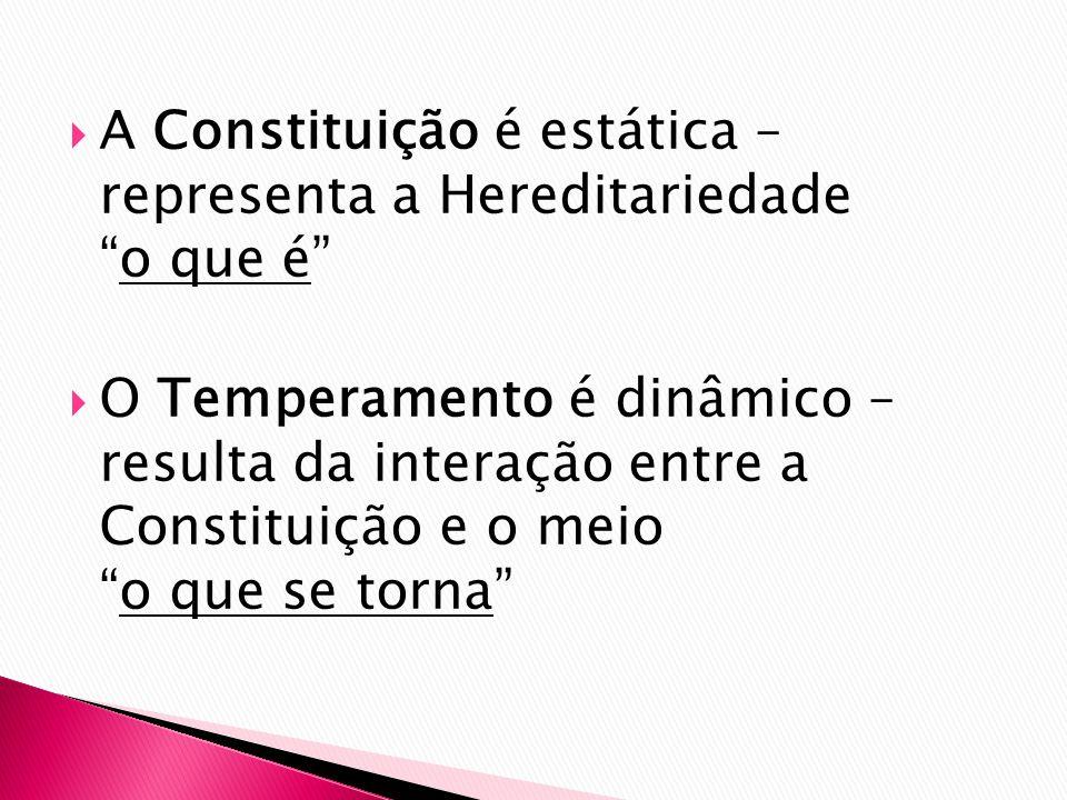 A Constituição é estática – representa a Hereditariedade o que é