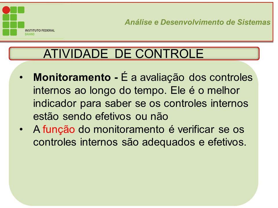 ATIVIDADE DE CONTROLE