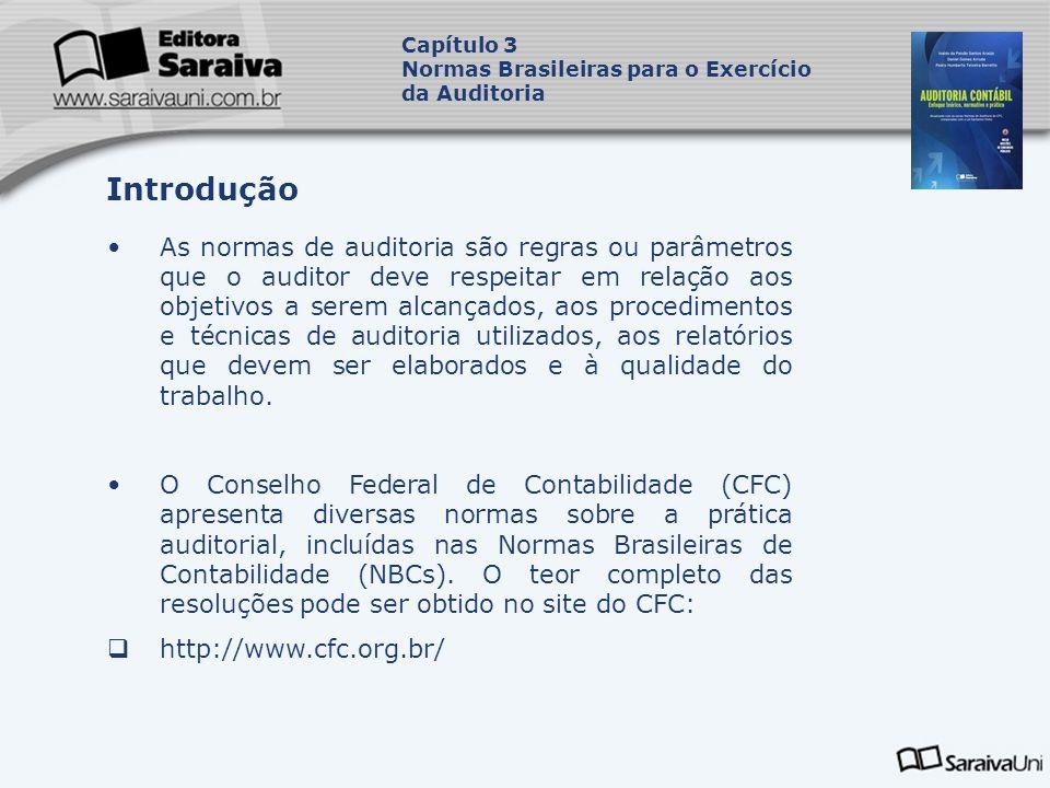 Capítulo 3 Normas Brasileiras para o Exercício. da Auditoria. Introdução.