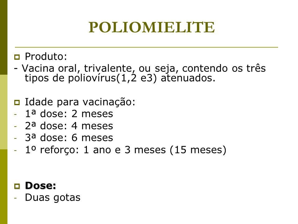 POLIOMIELITE Produto: