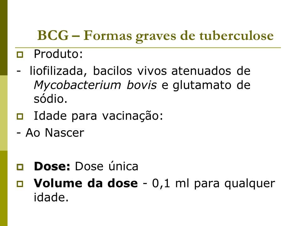 BCG – Formas graves de tuberculose