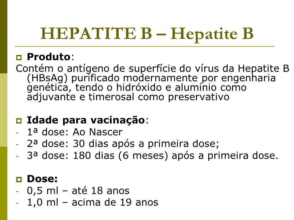 HEPATITE B – Hepatite B Produto: