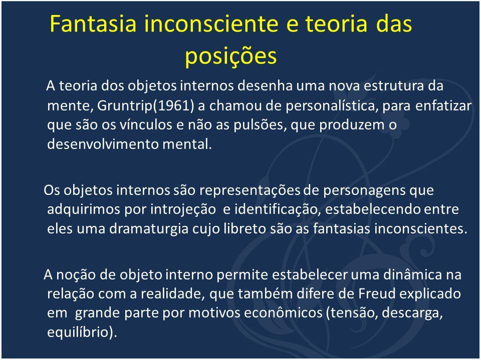 Fantasia inconsciente e teoria das posições