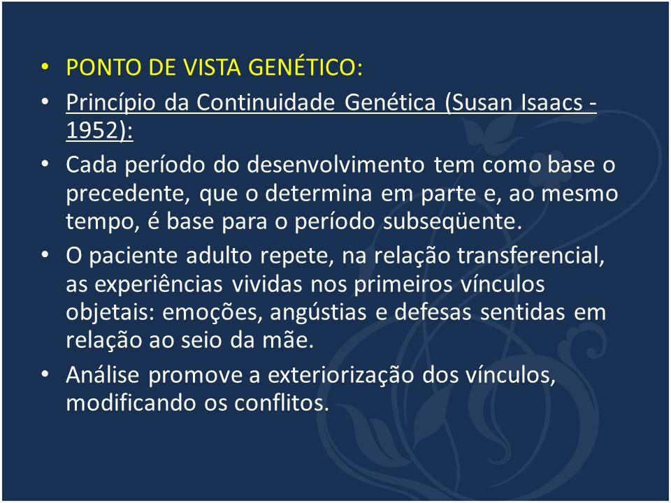 PONTO DE VISTA GENÉTICO: