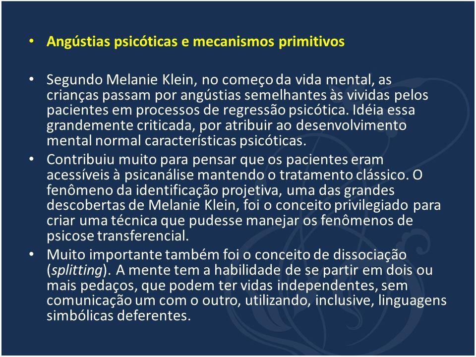 Angústias psicóticas e mecanismos primitivos