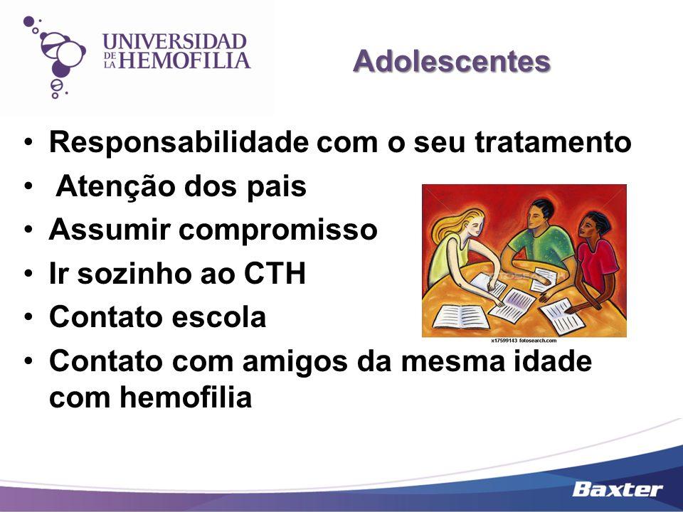 Adolescentes Responsabilidade com o seu tratamento. Atenção dos pais. Assumir compromisso. Ir sozinho ao CTH.