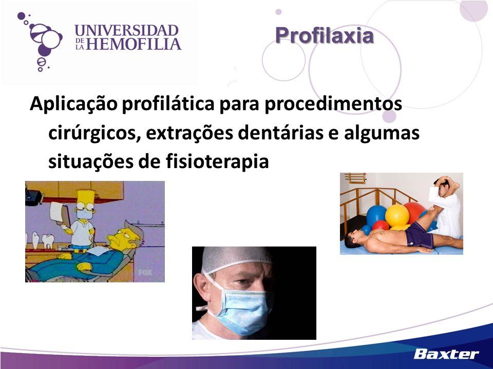 Profilaxia Aplicação profilática para procedimentos cirúrgicos, extrações dentárias e algumas situações de fisioterapia.