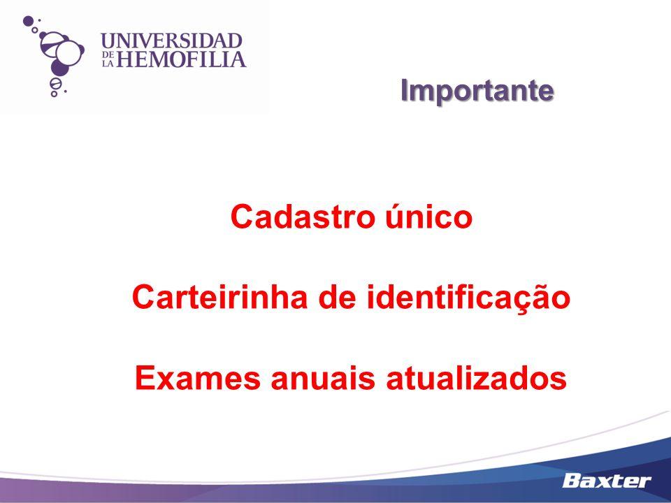Carteirinha de identificação Exames anuais atualizados