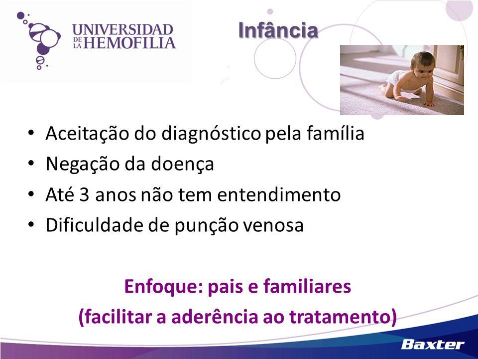Enfoque: pais e familiares (facilitar a aderência ao tratamento)
