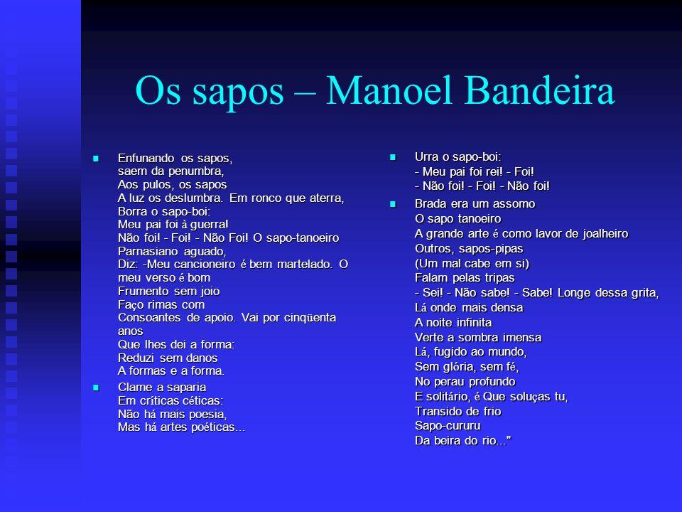 Os sapos – Manoel Bandeira