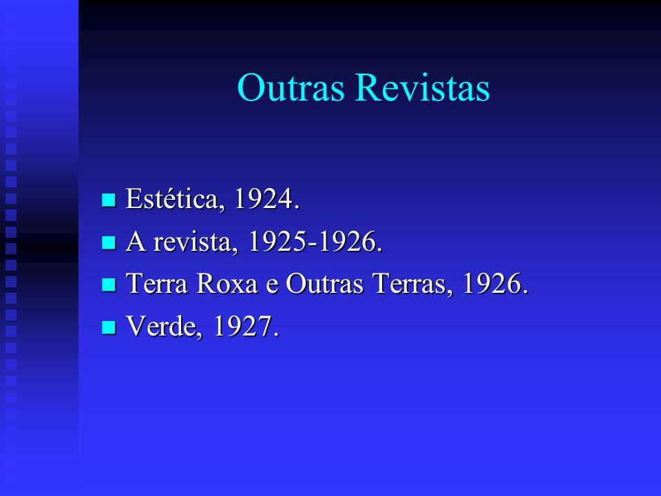 Outras Revistas Estética, 1924. A revista, 1925-1926.