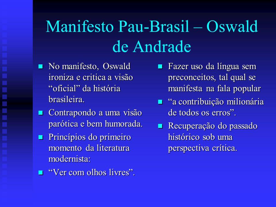 Manifesto Pau-Brasil – Oswald de Andrade