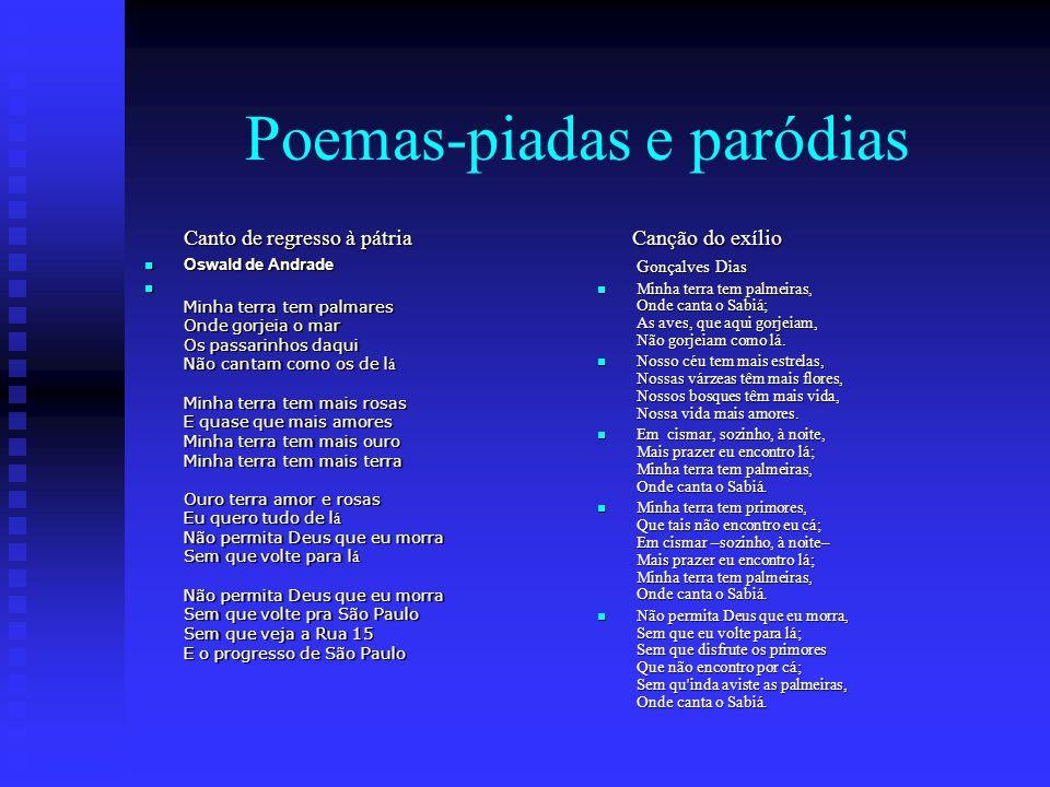 Poemas-piadas e paródias