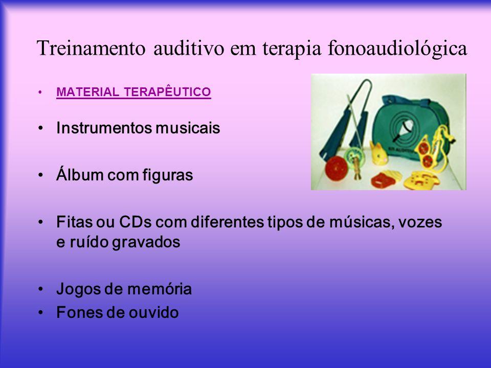 Treinamento auditivo em terapia fonoaudiológica