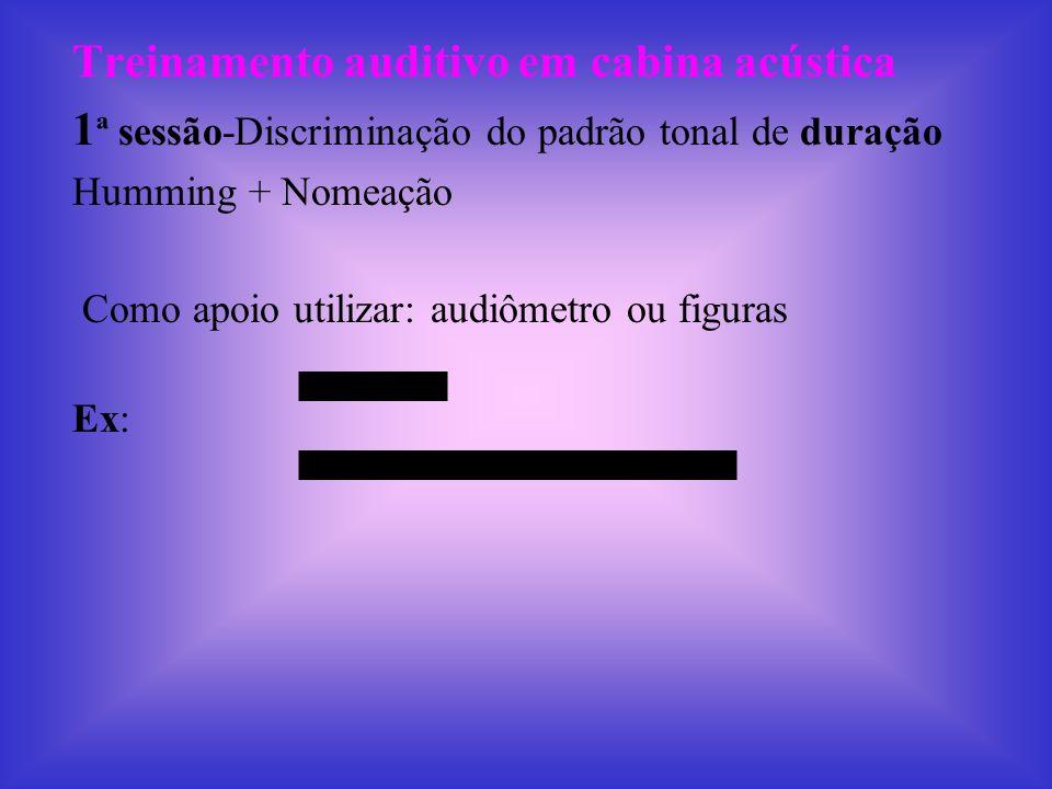 Treinamento auditivo em cabina acústica