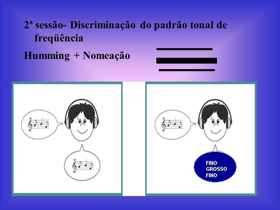 2ª sessão- Discriminação do padrão tonal de freqüência