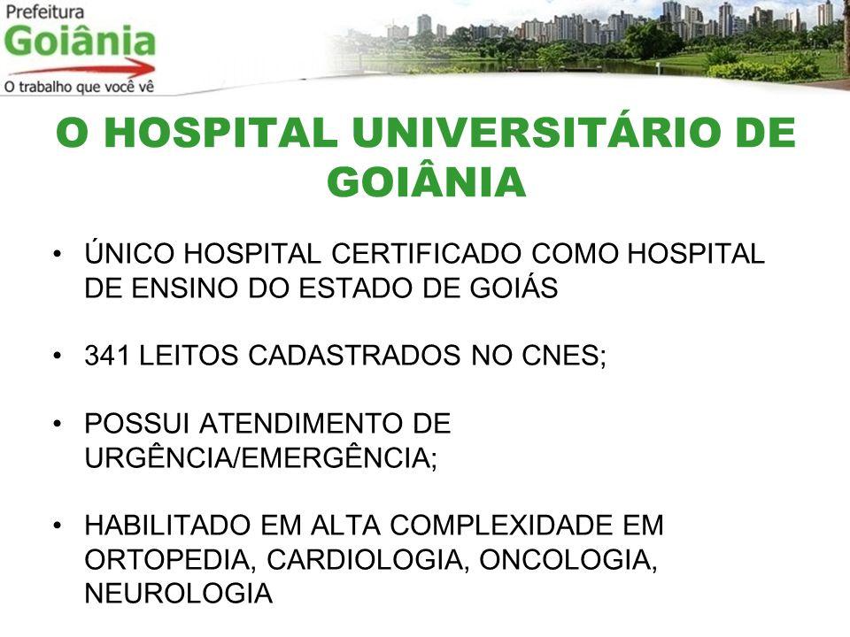 O HOSPITAL UNIVERSITÁRIO DE GOIÂNIA