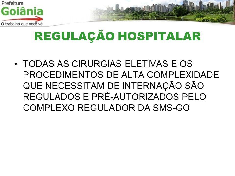 REGULAÇÃO HOSPITALAR