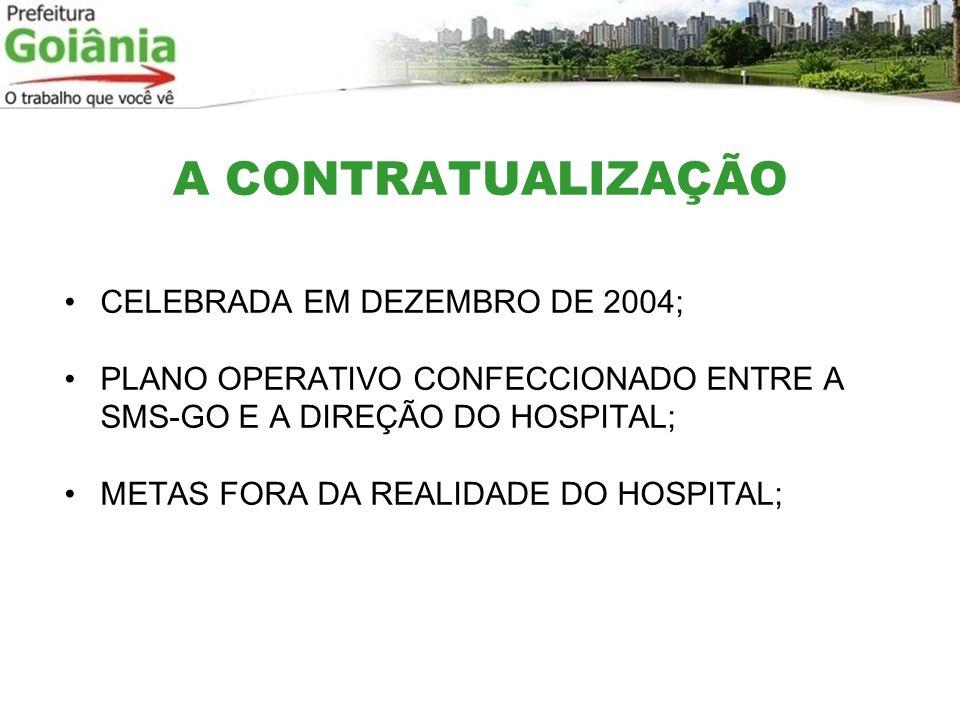 A CONTRATUALIZAÇÃO CELEBRADA EM DEZEMBRO DE 2004;