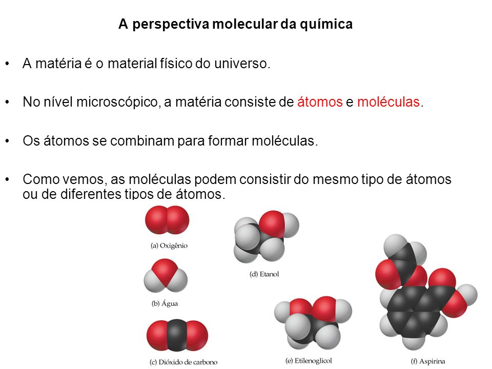 A perspectiva molecular da química