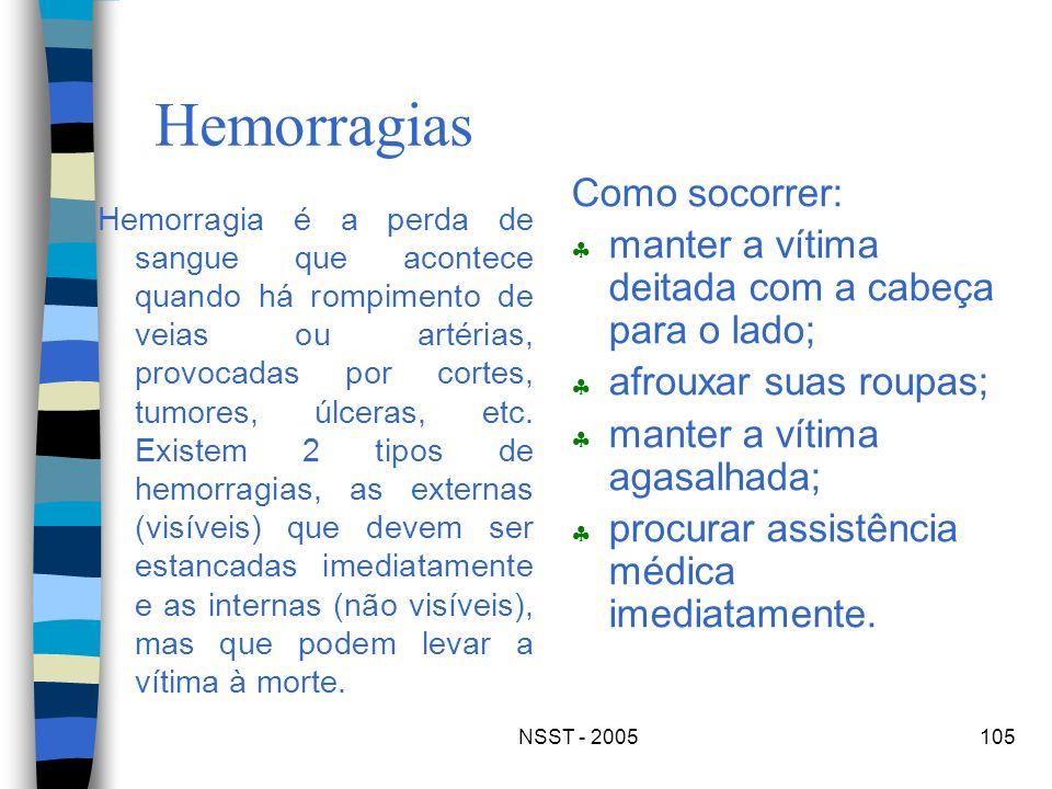 Hemorragias Como socorrer: