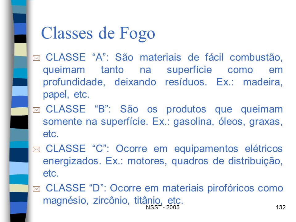 Classes de Fogo