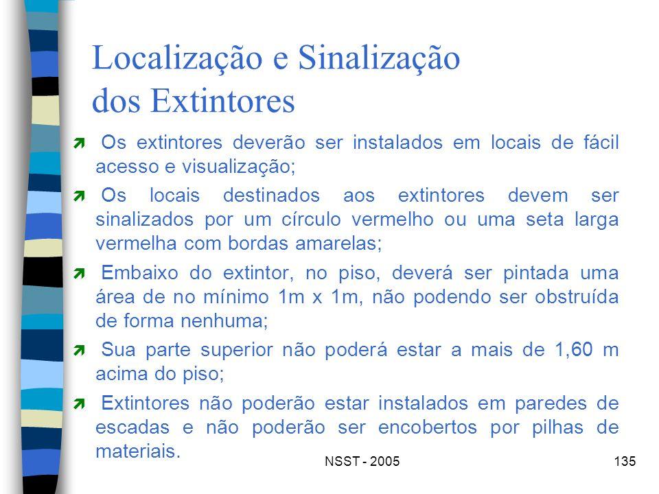 Localização e Sinalização dos Extintores