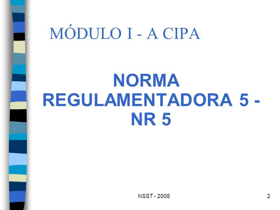 NORMA REGULAMENTADORA 5 - NR 5