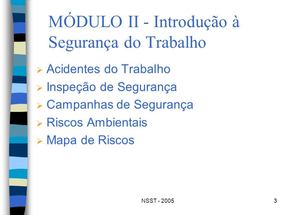 MÓDULO II - Introdução à Segurança do Trabalho