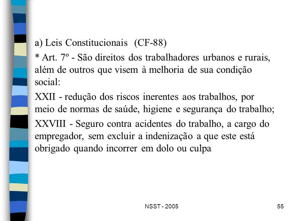 a) Leis Constitucionais (CF-88)