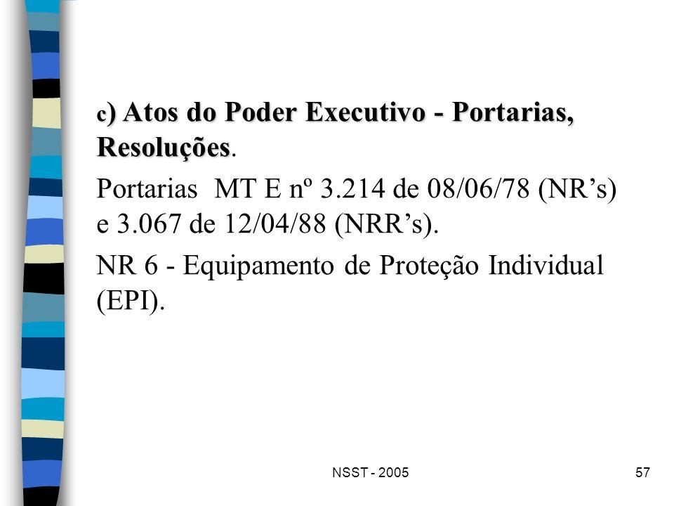 NR 6 - Equipamento de Proteção Individual (EPI).