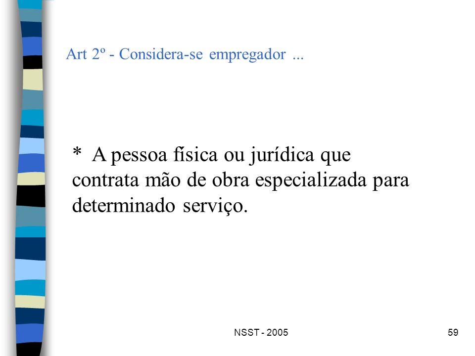 Art 2º - Considera-se empregador ...