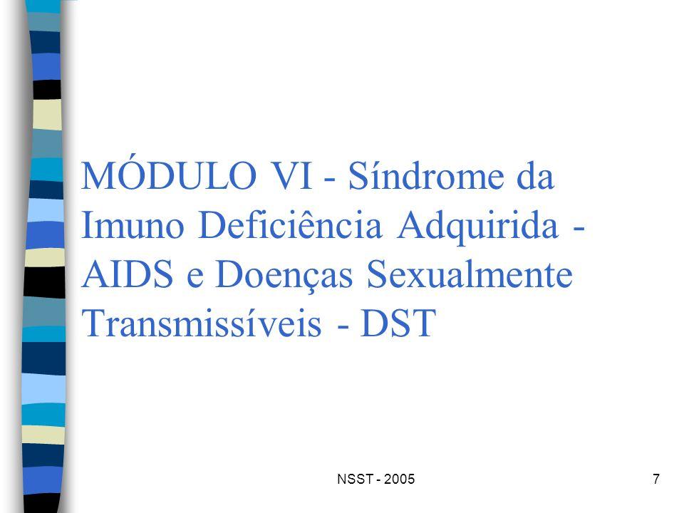 MÓDULO VI - Síndrome da Imuno Deficiência Adquirida - AIDS e Doenças Sexualmente Transmissíveis - DST