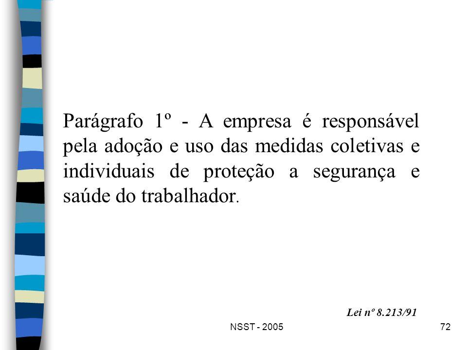 Parágrafo 1º - A empresa é responsável pela adoção e uso das medidas coletivas e individuais de proteção a segurança e saúde do trabalhador.